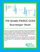 7th Grade CCSS PARCC Scavenger Hunt