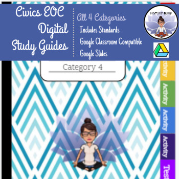 7th Grade Civics EOC FL Category One, Two, Three, & Four Study Guides and Tests