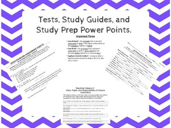 7th Grade Civics EOC Florida Category Two Study Guides and Tests