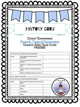 7th Grade Civics Study Guide Forms, Types, and Systems of Gov't