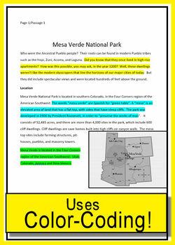 Text Evidence Grade 7 Close Reading Informational Bundle Passages Google Option