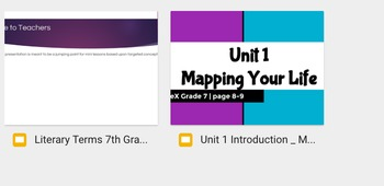 7th Grade Code X Unit 1 Complete Resource Pack