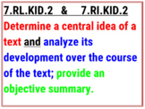 7th Grade Color Coded ELA Standards - Tennessee 2017-18