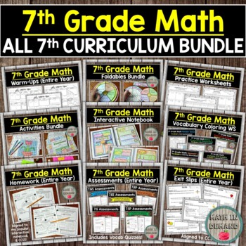 7th Grade Math Curriculum Entire Year By Math In Demand Tpt