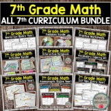 7th Grade Math Curriculum (Entire Year Bundle) DISTANCE LEARNING