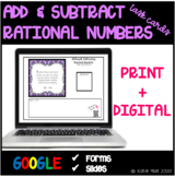 7th Grade Common Core 7.NS.1 Task Cards- Adding and Subtracting Rational Numbers