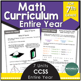7th Grade Math Common Core Aligned Curriculum BUNDLE