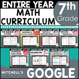 7th Grade Math Common Core Aligned Curriculum Using Google BUNDLE