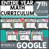 7th Grade Math Curriculum Common Core Aligned Using Google BUNDLE