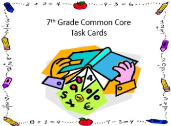 Task Cards for the Year - 7th Grade Math