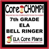 7th Grade Common Core ELA Bell Ringer  Core CHOMP!
