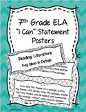 7th Grade Common Core ELA I Can Statement Posters English Language Arts