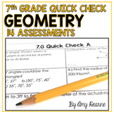Geometry Quick Check Assessments (Bell Ringers & Exit Slips)