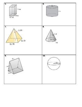 7th Grade Common Core Geometry Standard Test