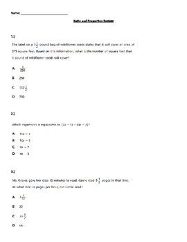 7th Grade Common Core Math Assessment Review: Ratios & Pro