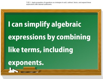 7th Grade Common Core Math I CAN statement posters (115 pages!)