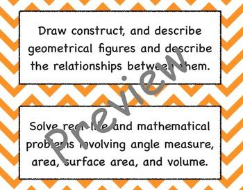 7th Grade Common Core Math Standards Posters