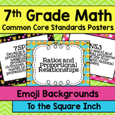 7th Grade Common Core Math Standards Posters- Emoji