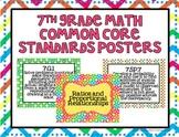 7th Grade Common Core Math Standards Posters- Tutti Fruity Print