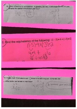 Math Misconceptions Common Core Grade 7