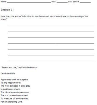 7th Grade Common Core Practice ALL RL.7 Standards