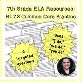 7th Grade Common Core Practice - RL.7.3 - 3-5 mini-lessons