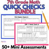 7th Grade Assessment Bundle (Bell Ringers & Exit Slips)
