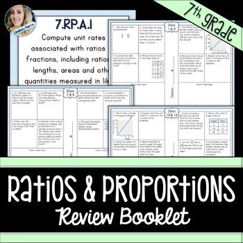 Ratios and Proportional Relationships Review Booklet