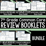 7th Grade Common Core Review Booklets Bundle