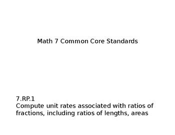 7th Grade Common Core State Standards