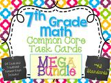 7th Grade Ultimate Task Card and Unit Resource Mega Bundle