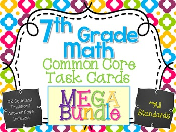 7th Grade Ultimate Task Card and Unit Resource Mega Bundle