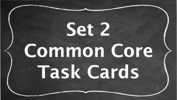 7th Grade Common Core Task Cards - Set 2 (with QR Code Scanners)