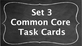 7th Grade Common Core Task Cards - Set 3 (with QR Code Scanners)
