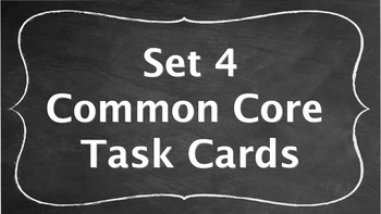 7th Grade Common Core Task Cards - Set 4 (with QR Code Scanners)