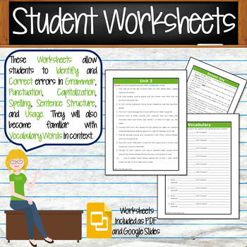 GRAMMAR & VOCABULARY PROGRAM - 7th Grade - Standards Based – Unit 3