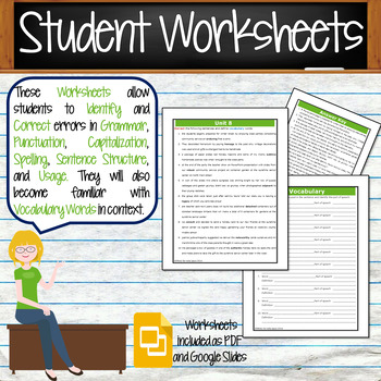 GRAMMAR & VOCABULARY PROGRAM - 7th Grade - Standards Based – Unit 8