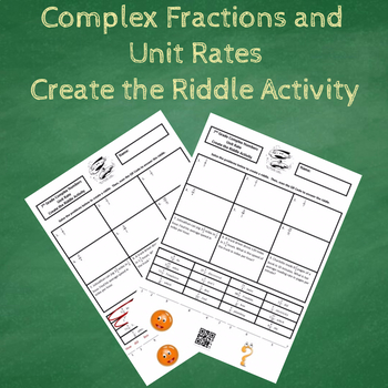 7th Grade Complex Numbers and Unit Rates Create the Riddle Activity