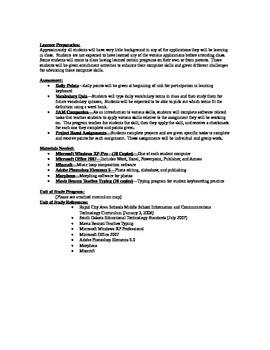 7th Grade Computer Unit of Study