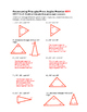 7th Grade Constructing Triangles from Angles Lesson: FOLDABLE & Homework