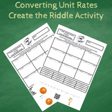 7th Grade Converting Unit Rates Create the Riddle Activity