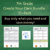 7th Grade Create the Riddle Create Your Own Bundle - 10 Pack