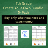 7th Grade Create the Riddle Create Your Own Bundle - 5 Pack