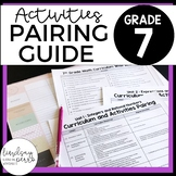 7th Grade Curriculum and Activities Pairing Guide