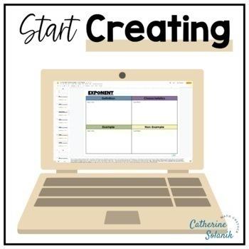 7th Grade Common Core Digital MATH Dictionary 100% Editable Vocabulary Resource