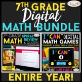 7th Grade DIGITAL Math BUNDLE | Google Classroom | Spiral
