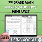 7th Grade Distance Learning ANGLES (GEOMETRY) Mini Unit Us