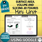 7th Grade Distance Learning Surface Area, Volume, & Slicin