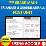 7th Grade Distance Learning Triangles and Quadrilaterals M
