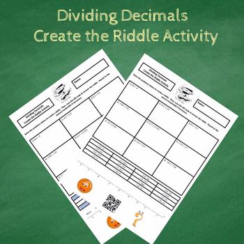 7th Grade Dividing Decimals (Including Negatives) Create the Riddle